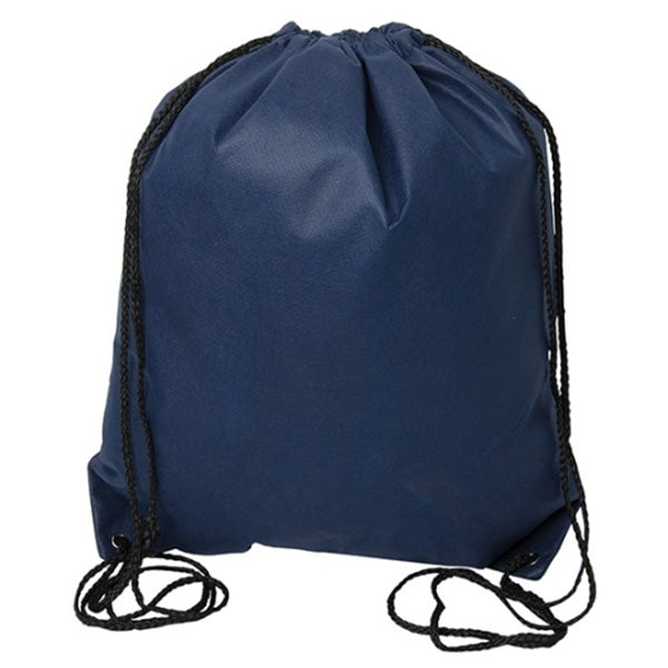 (Navy Blue) Non Woven Drawstring Backpack