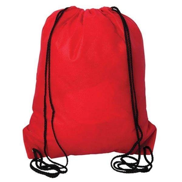 (Red) Non Woven Drawstring Backpack
