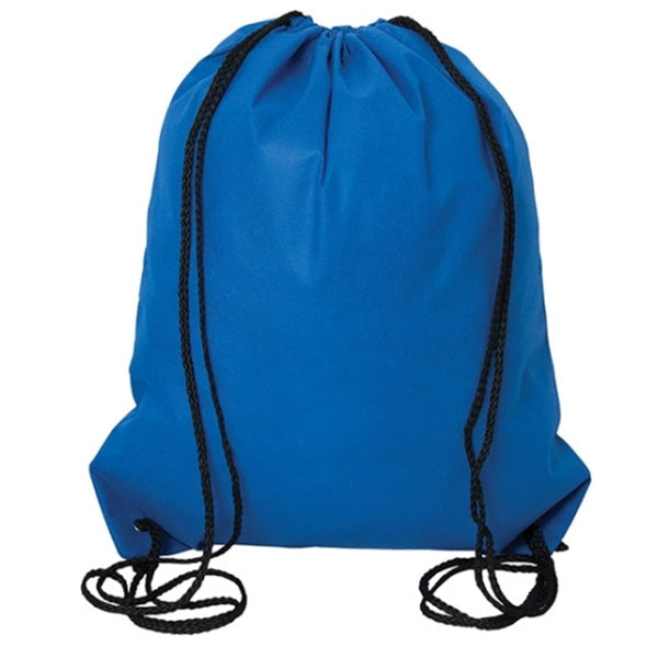 (Royal Blue) Non Woven Drawstring Backpack