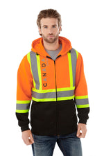 Freedom Men's Hi vis Full Zip Fleece Hoodie