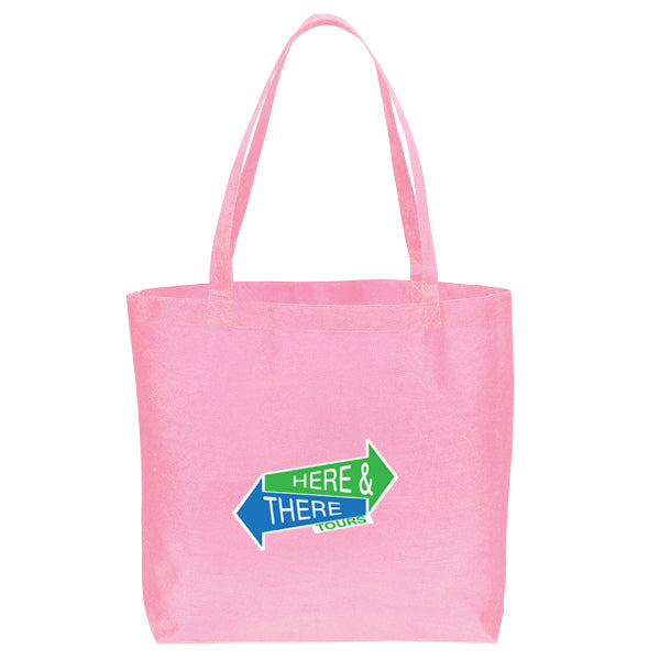Non Woven Shopping Eco-Friendly Pink Tote Bag