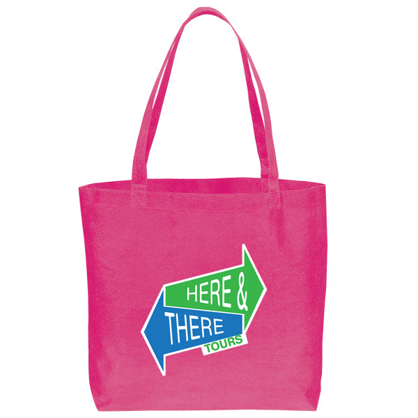 Non Woven Shopping Eco-Friendly Hot Pink Tote Bag