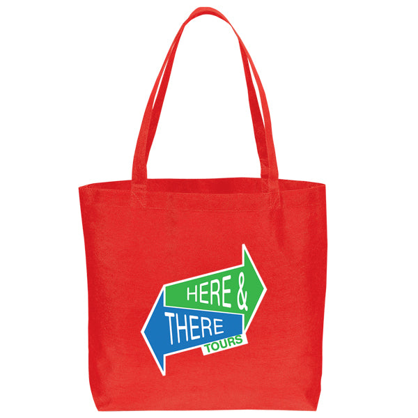 Non Woven Shopping Eco-Friendly Red Tote Bag