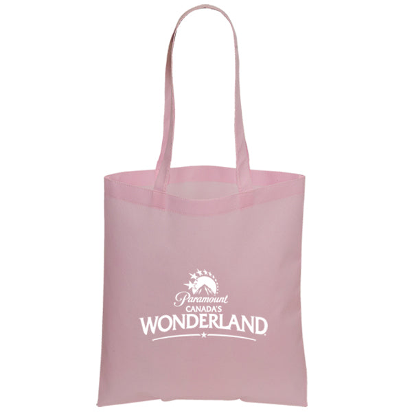Non Woven Economy Convention Pink Tote Bag