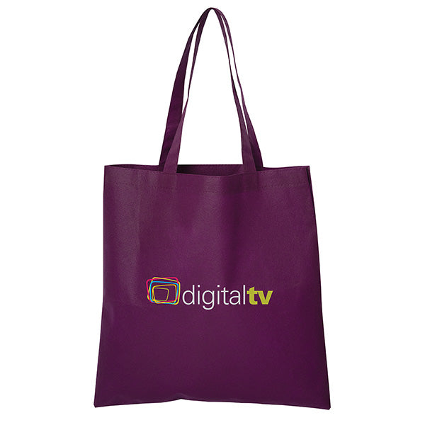 Non Woven Economy Convention Purple Tote Bag