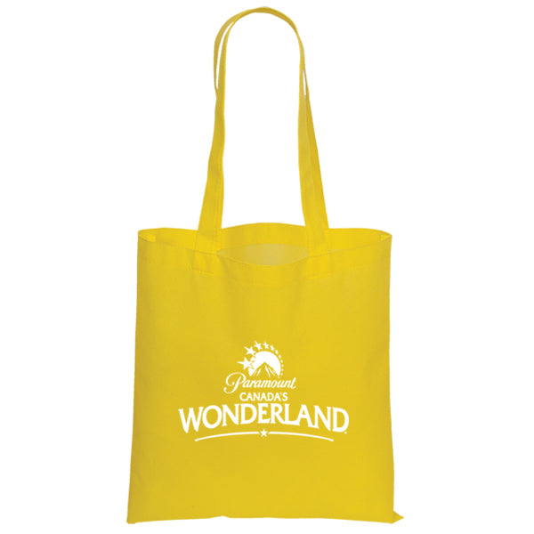 Non Woven Economy Convention Yellow Tote Bag