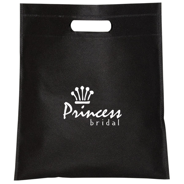 Cut-out Handle Non Woven Black Tote Bag