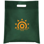 Cut-out Handle Non Woven Green Tote Bag