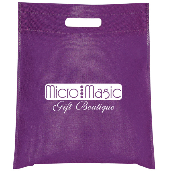 Cut-out Handle Non Woven Purple Tote Bag