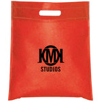 Cut-out Handle Non Woven Red Tote Bag