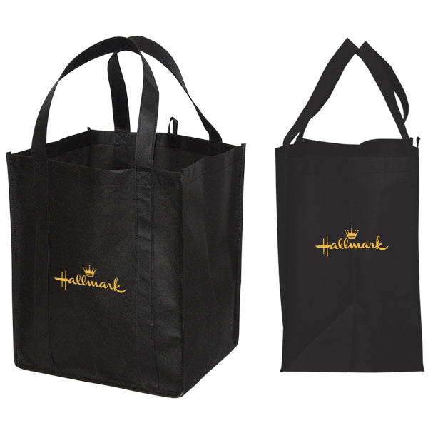 Jumbo Non Woven Shopping Black Tote Bag