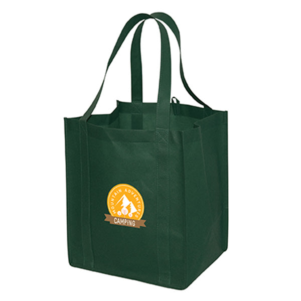 Jumbo Non Woven Shopping Forest Green Tote Bag