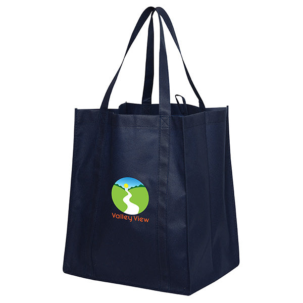 Jumbo Non Woven Shopping Navy Tote Bag