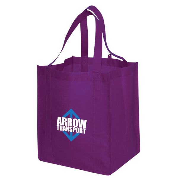 Jumbo Non Woven Shopping Purple Tote Bag
