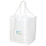 Jumbo Non Woven Shopping White Tote Bag