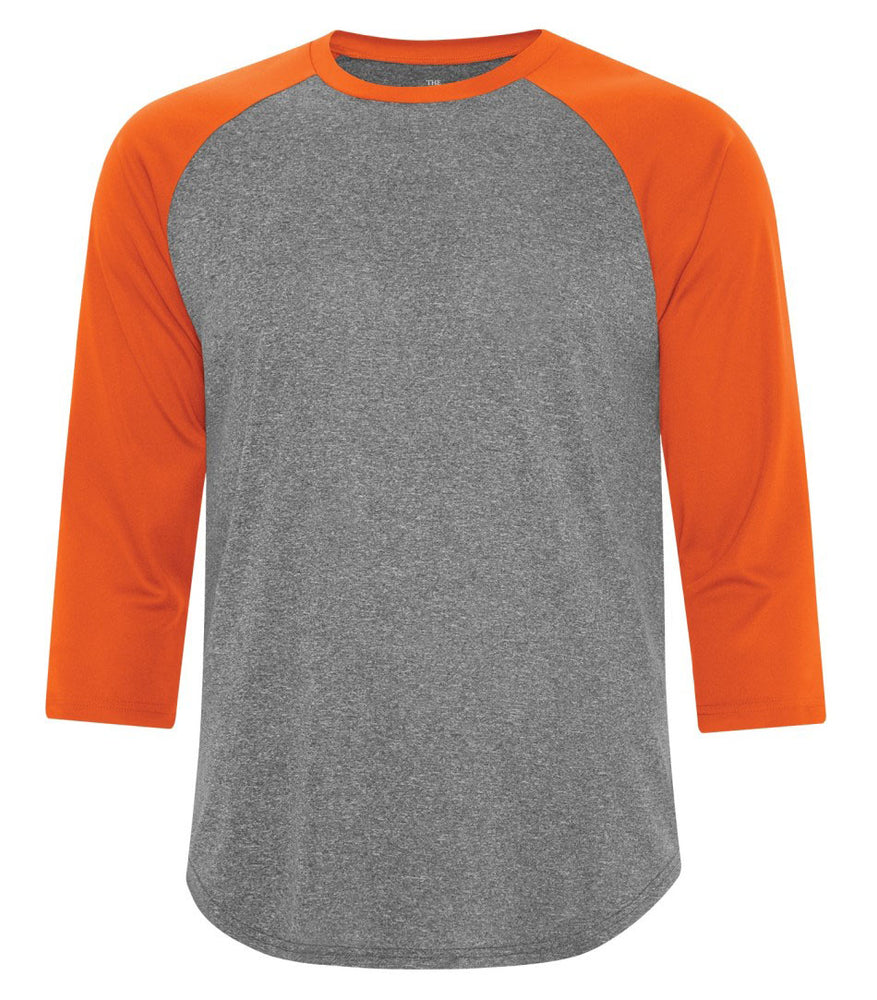 ATC Pro Team Baseball Jersey T-shirt - Charcoal Heather Orange