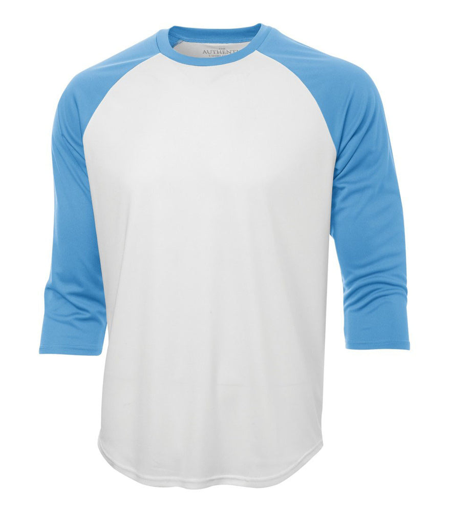 ATC Pro Team Baseball Jersey T-shirt - White & Carolina Blue
