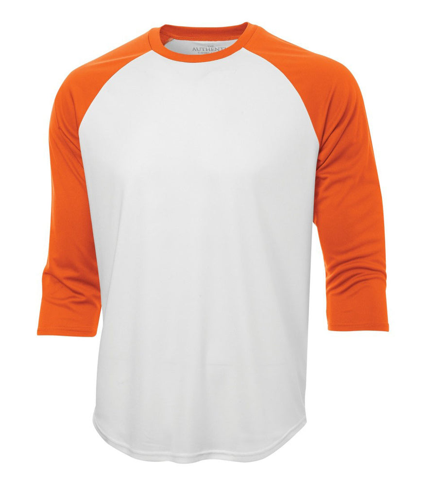 ATC Pro Team Baseball Jersey T-shirt - white & Deep Orange