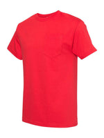 Alstyle Classic Adult Red tee with Pocket