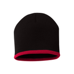 Bottom Stripe Toque - Black & Red