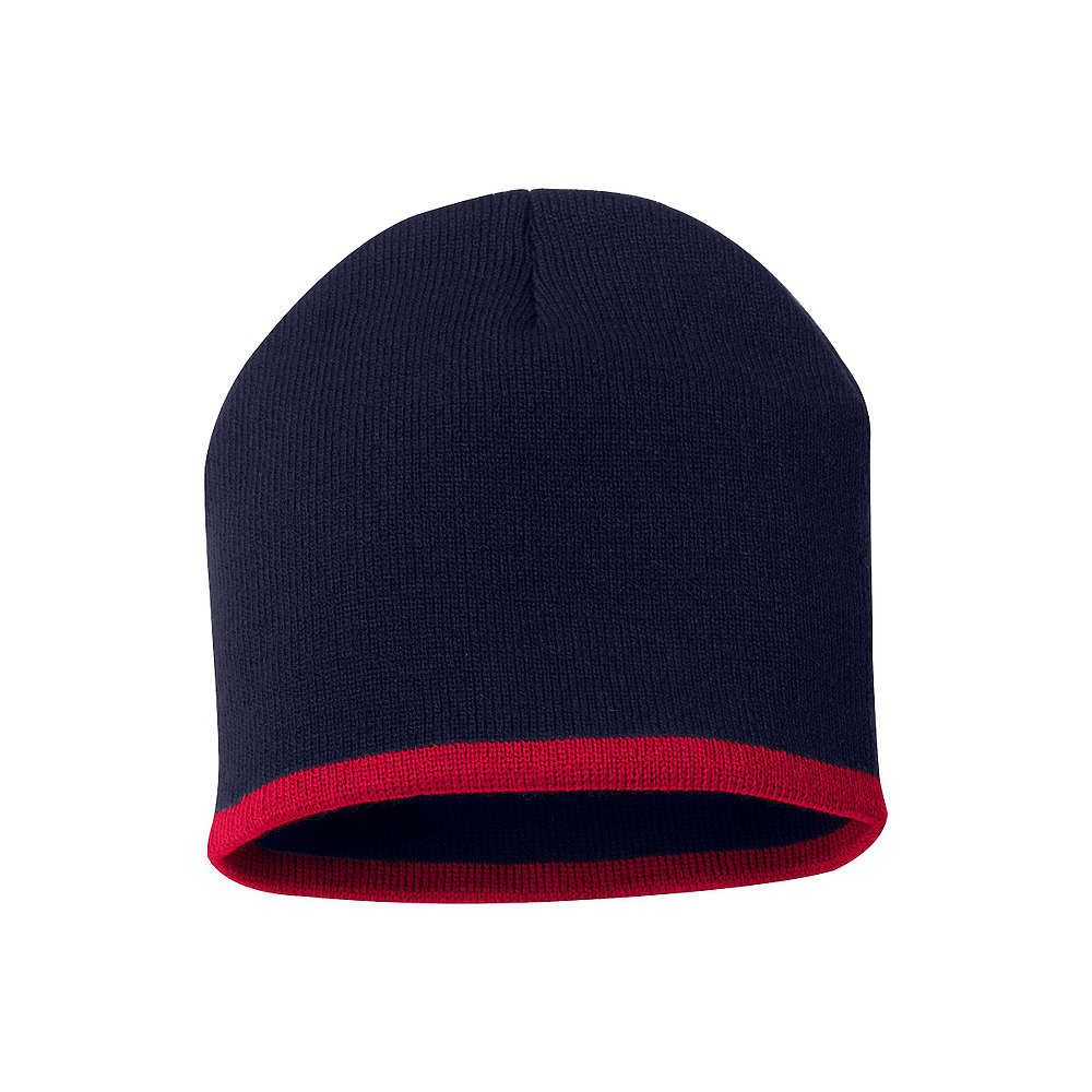 Bottom Stripe Toque - Navy & Red