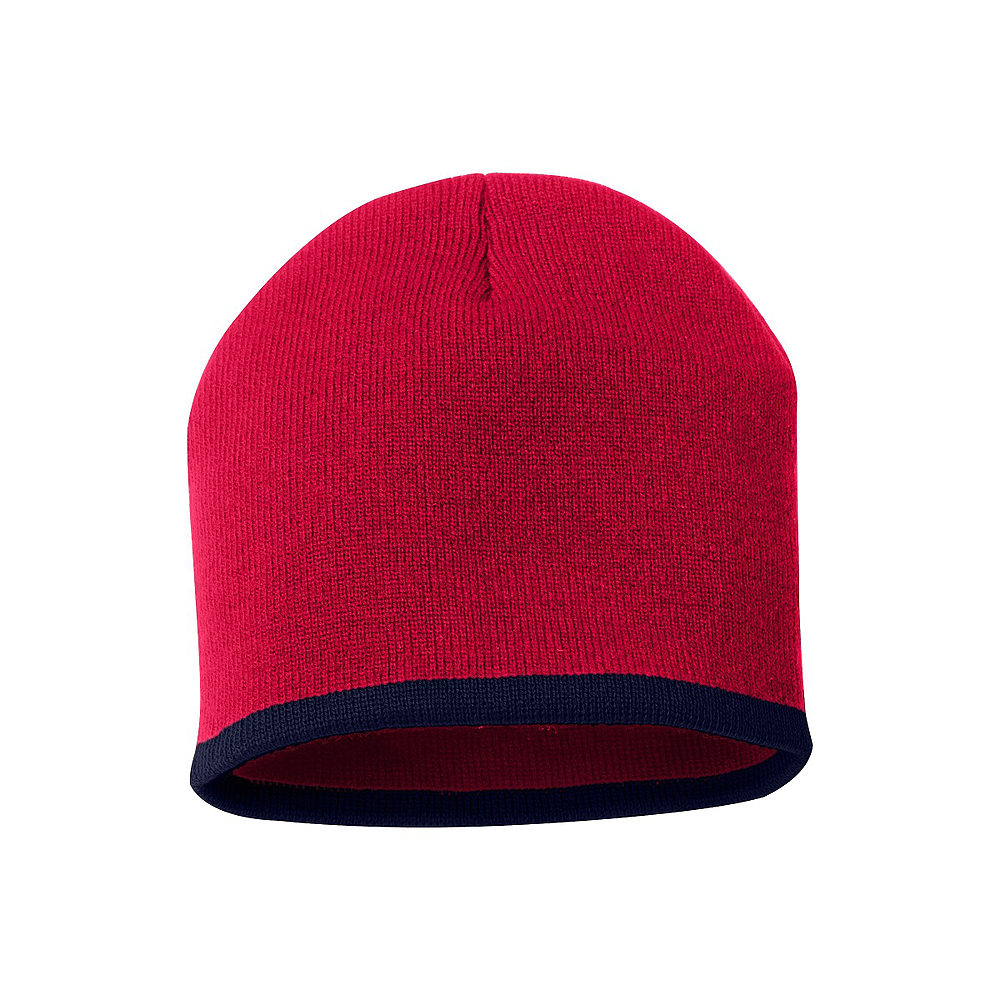 Bottom Stripe Toque - Red and Black