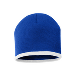 Bottom Stripe Toque - Royal & White