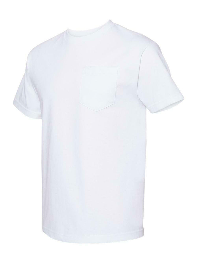 Alstyle Classic Adult White tee with Pocket