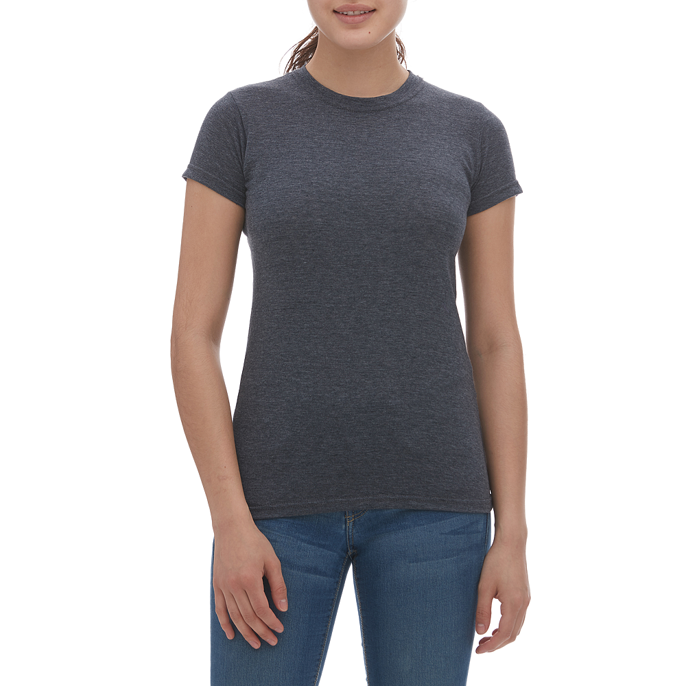 M & O Ladies Blend Tee - Heather Navy