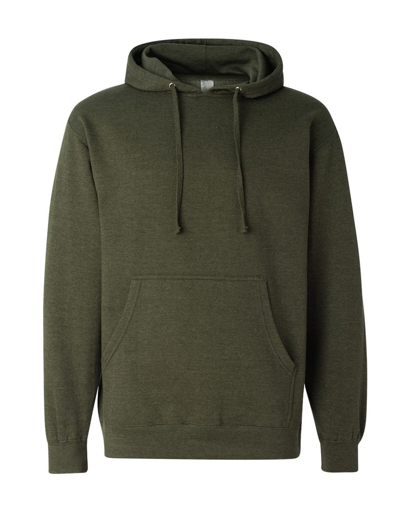 (Army Heather) Independent Trading Co Midweight Hooded Sweatshirt