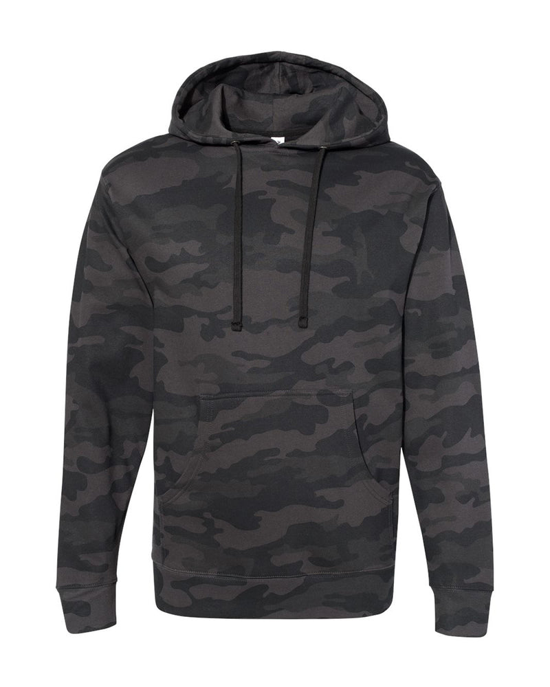(Black Camo) Independent Trading Co Midweight Hooded Sweatshirt