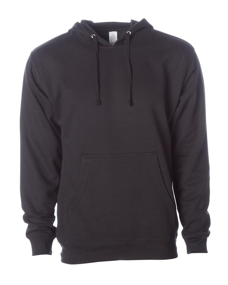 (Black) Independent Trading Co Midweight Hooded Sweatshirt