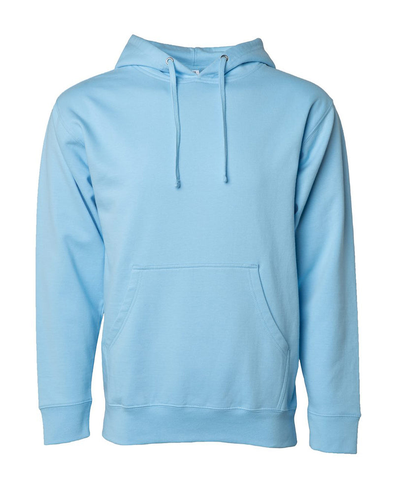 (Blue Aqua) Independent Trading Co Midweight Hooded Sweatshirt