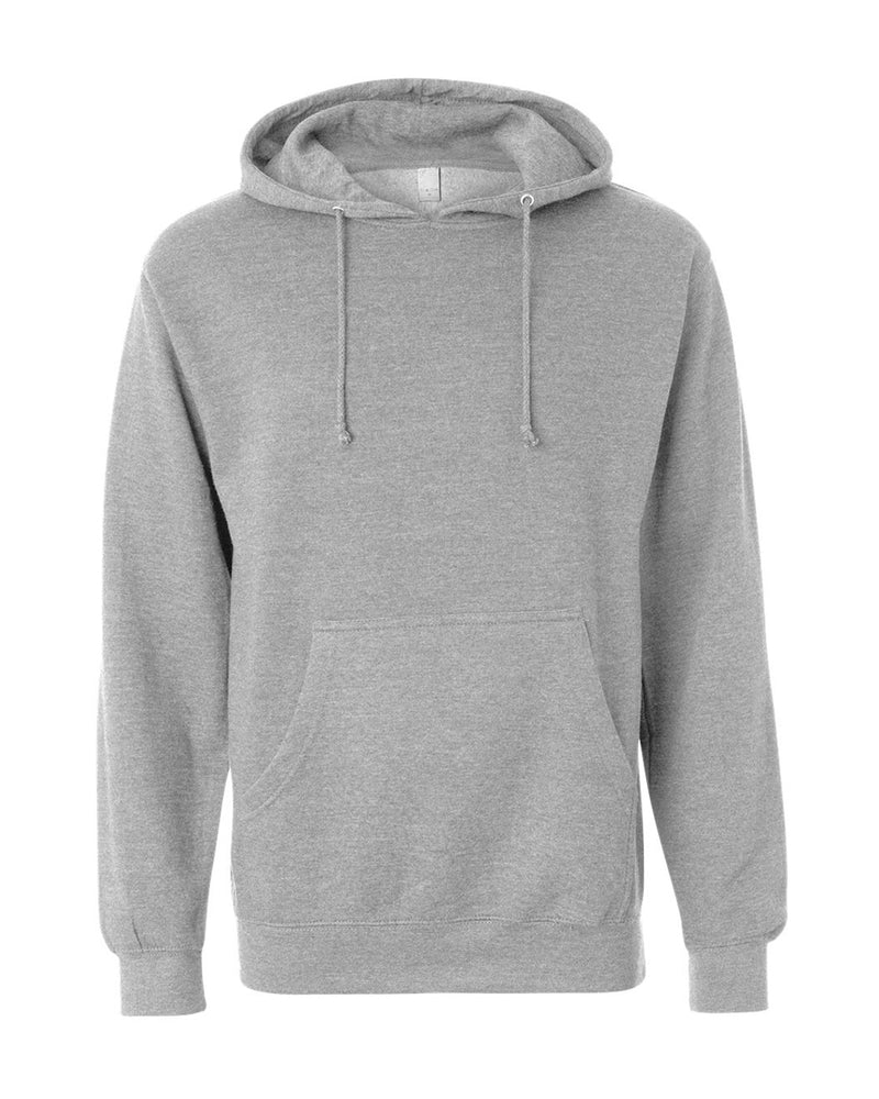 (Gunmetal Heather) Independent Trading Co Midweight Hooded Sweatshirt