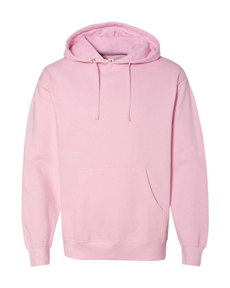 (Light Pink) Independent Trading Co Midweight Hooded Sweatshirt