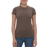 M & O Ladies Blend Tee - Heather Brown