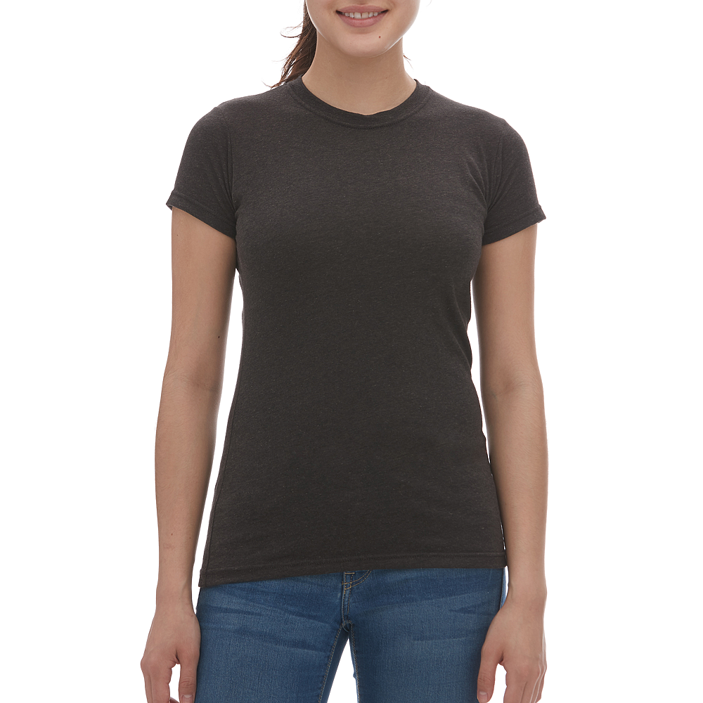 M & O Ladies Blend Tee - Heather Graphite