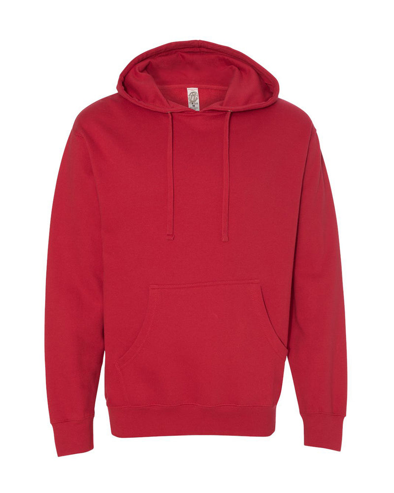 (Red) Independent Trading Co Midweight Hooded Sweatshirt