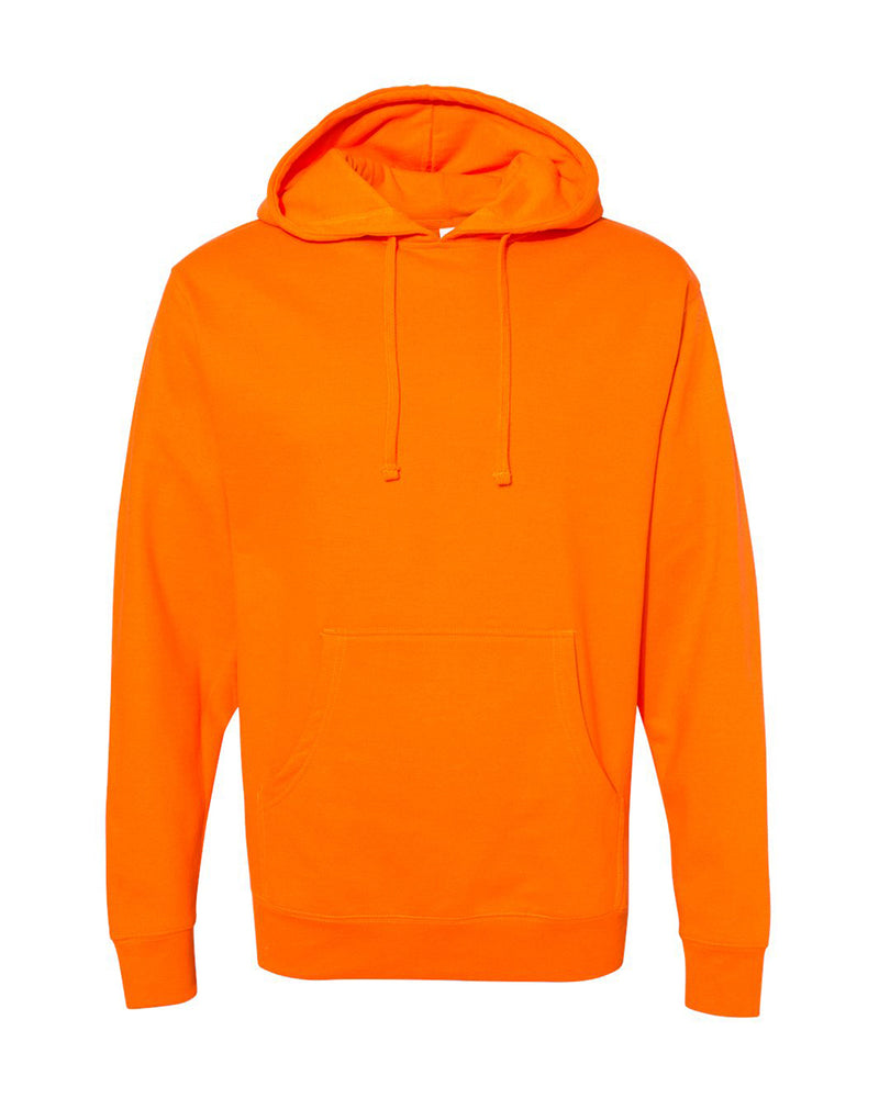 (Safety Orange) Independent Trading Co Midweight Hooded Sweatshirt
