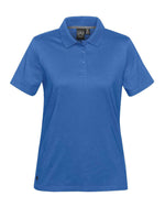 (Azure Blue) Stormtech Women's Oasis Liquid Cotton Polo