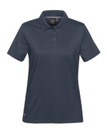 (Navy) Stormtech Women's Oasis Liquid Cotton Polo