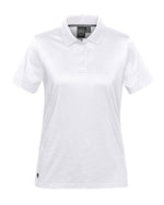 (White) Stormtech Women's Oasis Liquid Cotton Polo