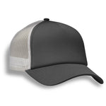 (Graphite Grey) Structured 5 Panel Foam Trucker Cap