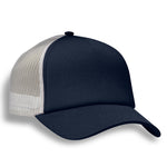 (Navy) Structured 5 Panel Foam Trucker Cap