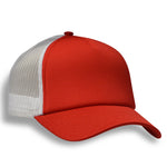 (Red) Structured 5 Panel Foam Trucker Cap