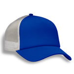 (Royal Blue) Structured 5 Panel Foam Trucker Cap