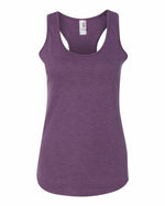 Anvil Triblend Racerback Tank - Heather Aubergine