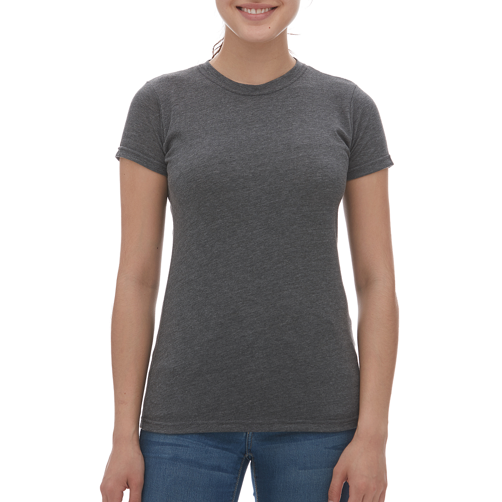 M & O Ladies Blend Tee - Heather Charcoal