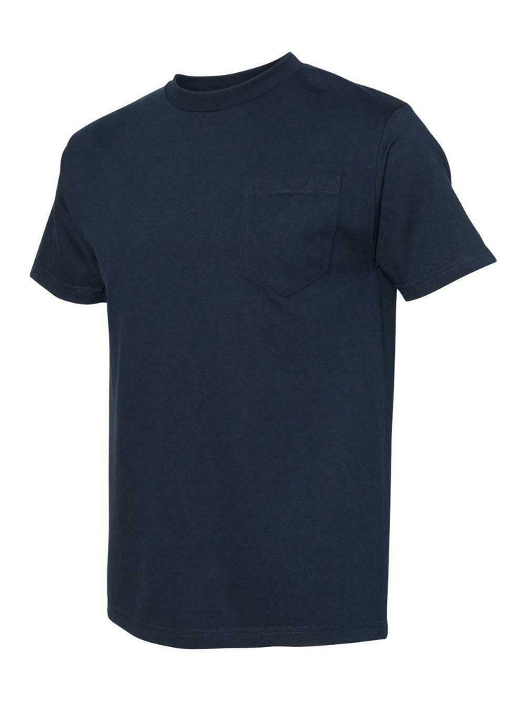 Alstyle Classic Adult Navy tee with Pocket
