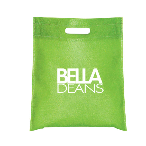 Small Non Woven Cut-Out Handle Tote Bag